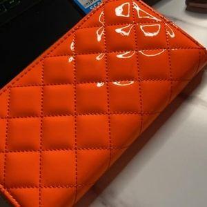 Orange wallet nwt